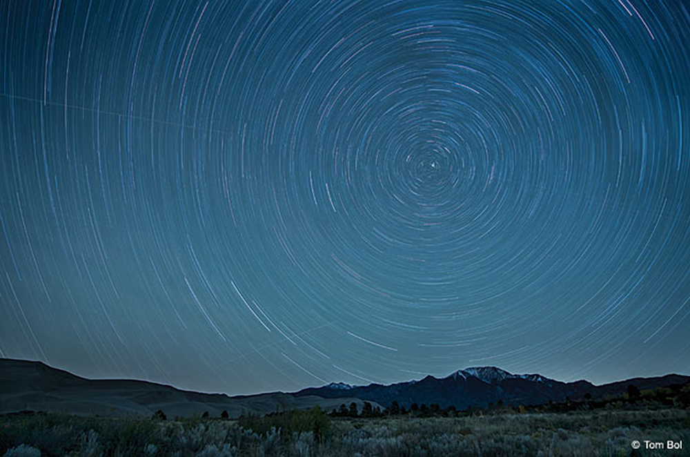Image of star trails