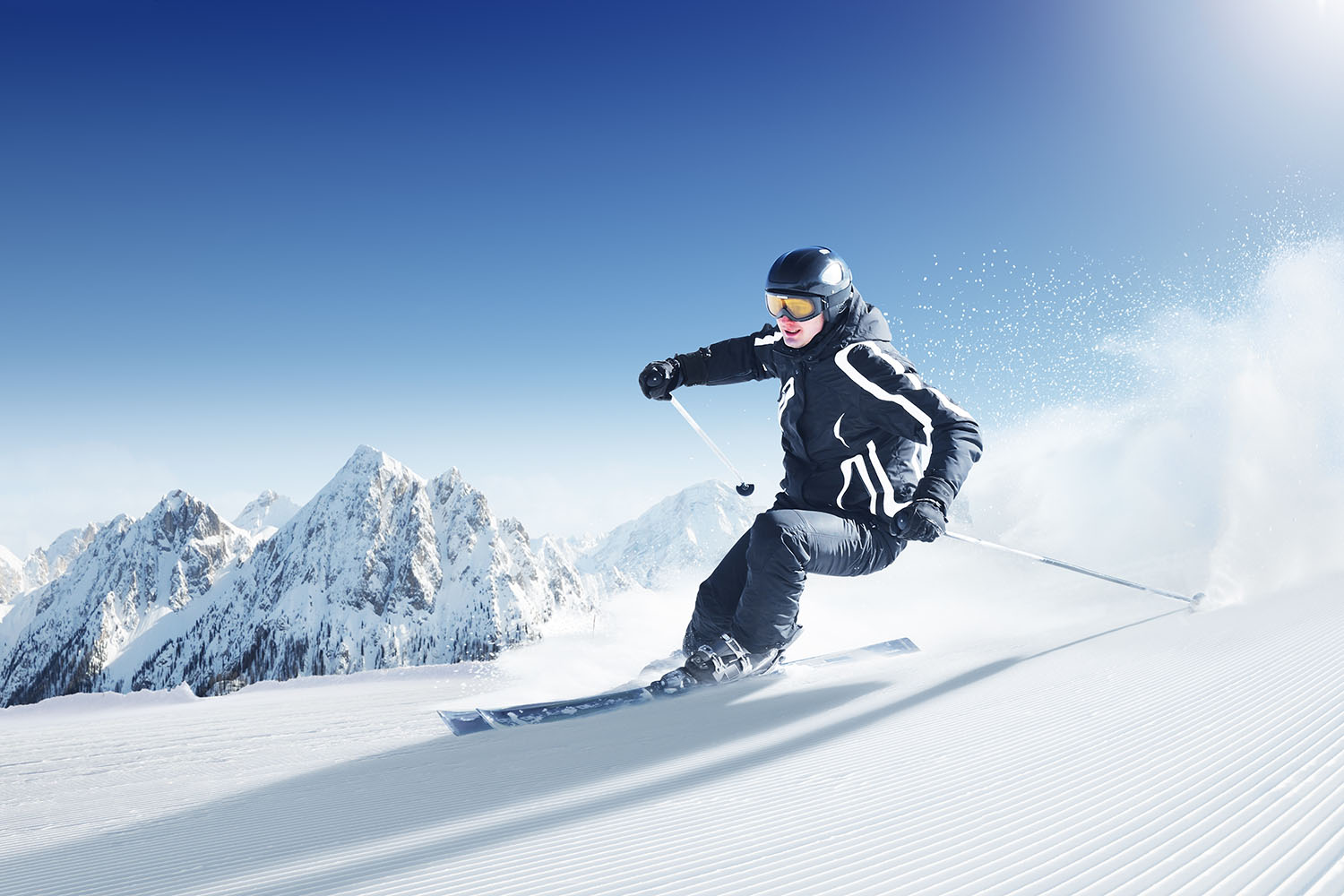 Fast-Moving Action - Skier