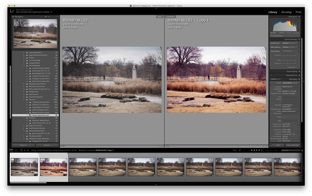 Lightroom Snapshots and Virtual Copies