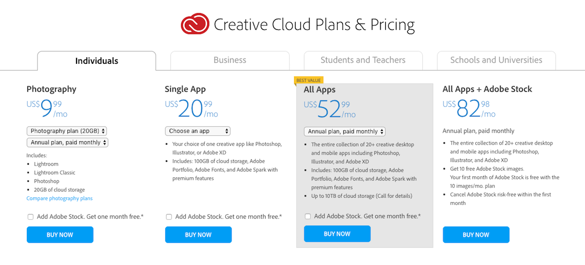 Adobe Temporarily Removes $10 Option For Creative Cloud Plan Angering Photographers