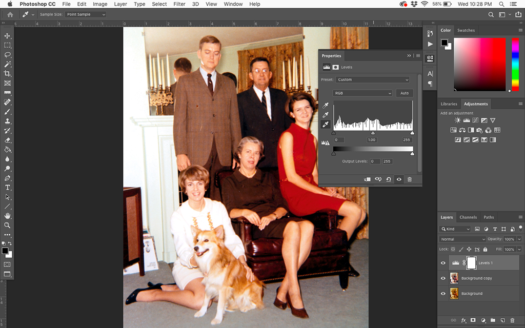 Restoring Faded Color Photos