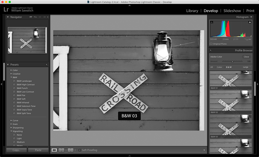 Black And White Photo Conversions In Lightroom