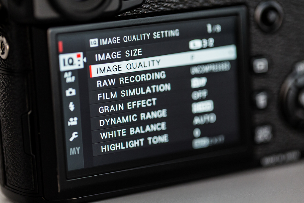 Setting Image Size And Quality In-Camera
