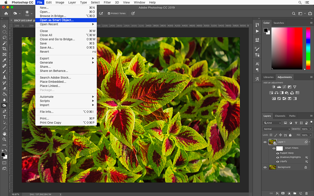 Use Smart Objects For Nondestructive Editing