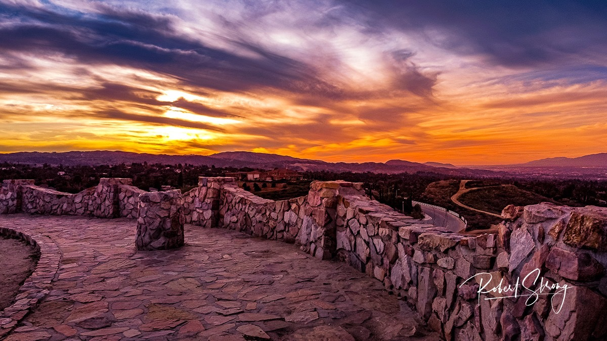 """""""Sunset at Panorama Point"""" by Robert Strong."""