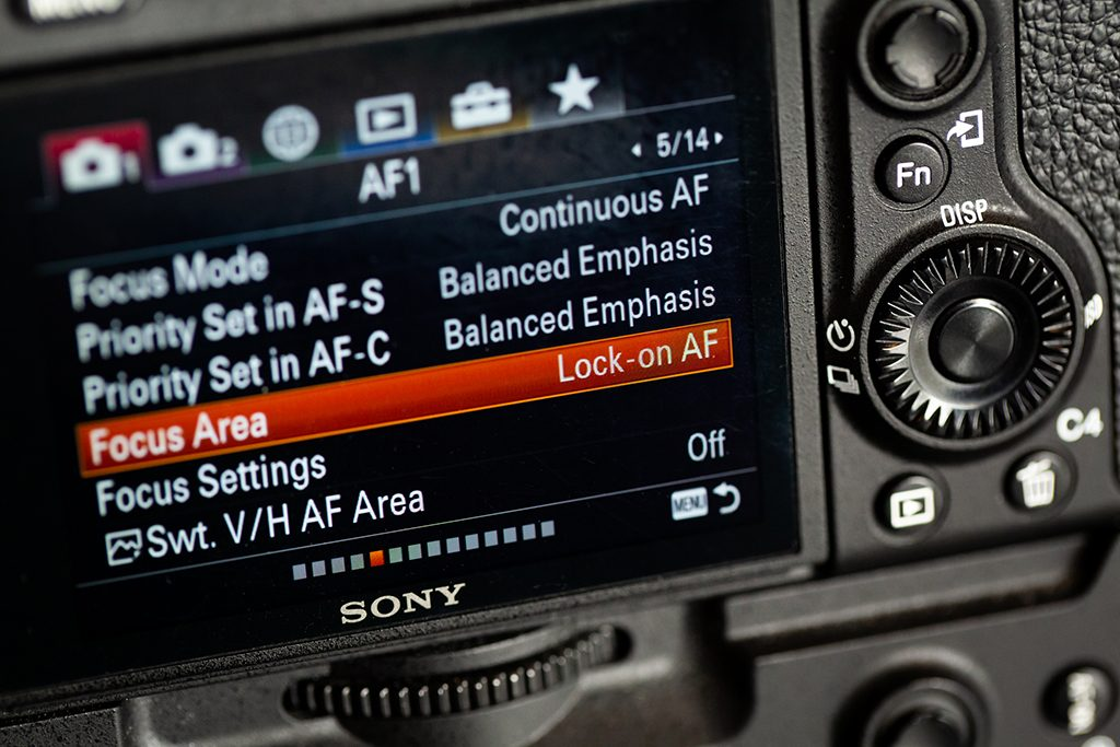 Sony Camera Focus Areas