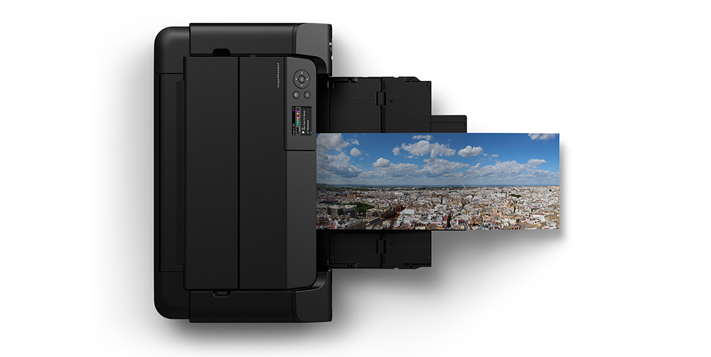 Image of a Canon imagePROGRAF PRO-300 and panorama print