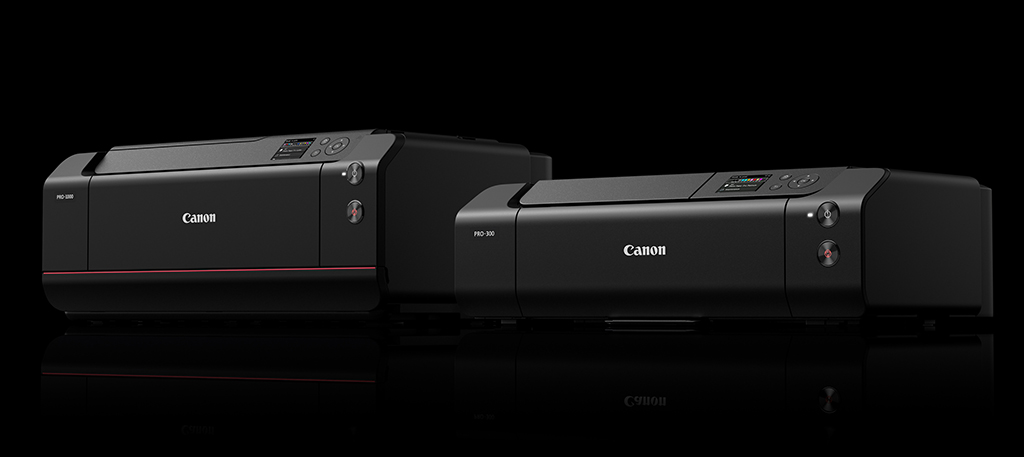 Image of the Canon imagePROGRAF PRO-300 and PRO-1000 printers