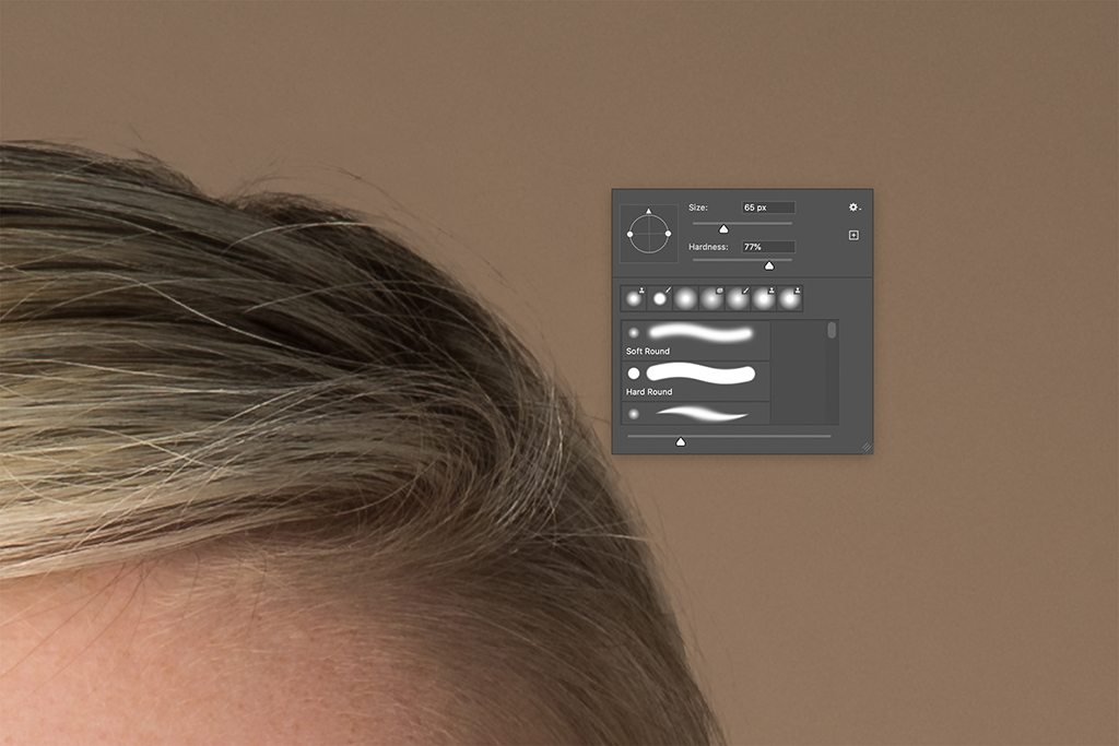 Layered Hair Repair in Photoshop