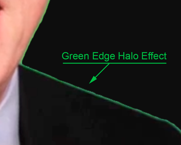 Image of green screen effect on a photo