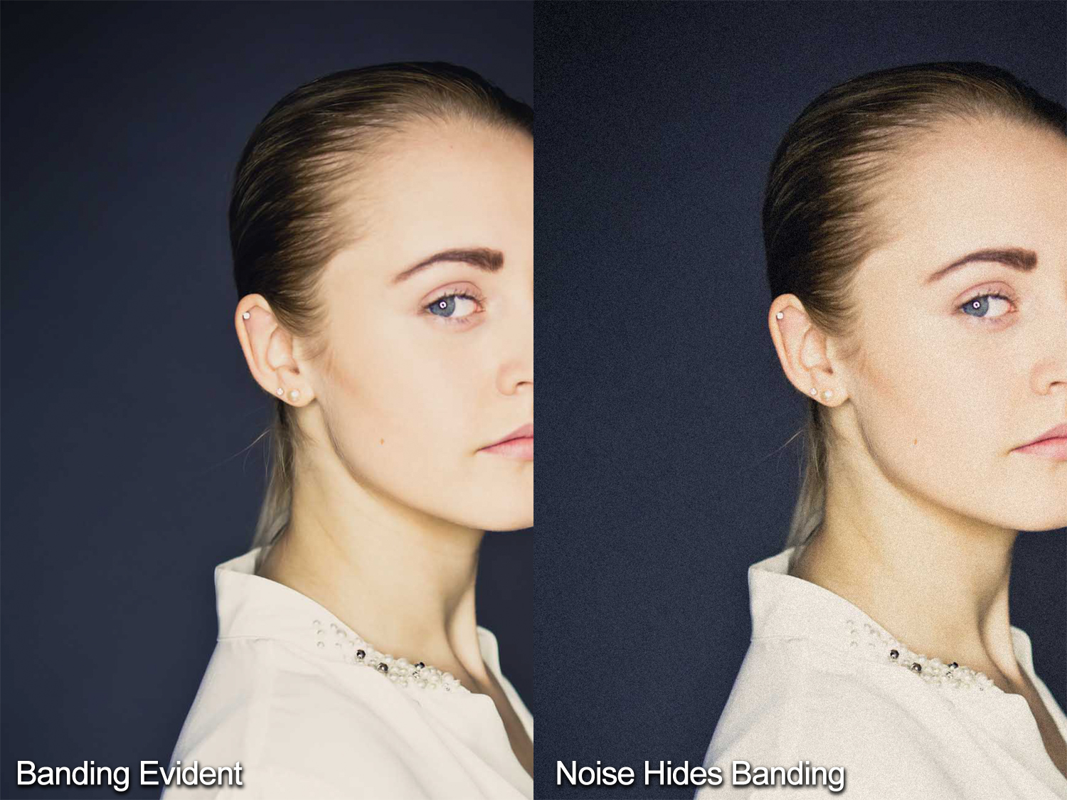 Photos showing banding in an image