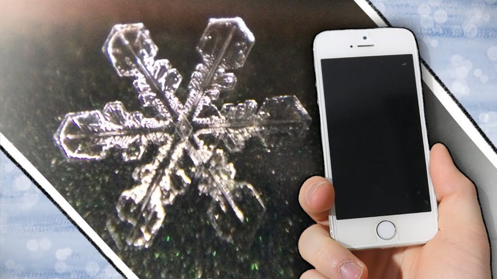 How to Capture Amazing Close-Up Photos of Snowflakes with Your Smartphone