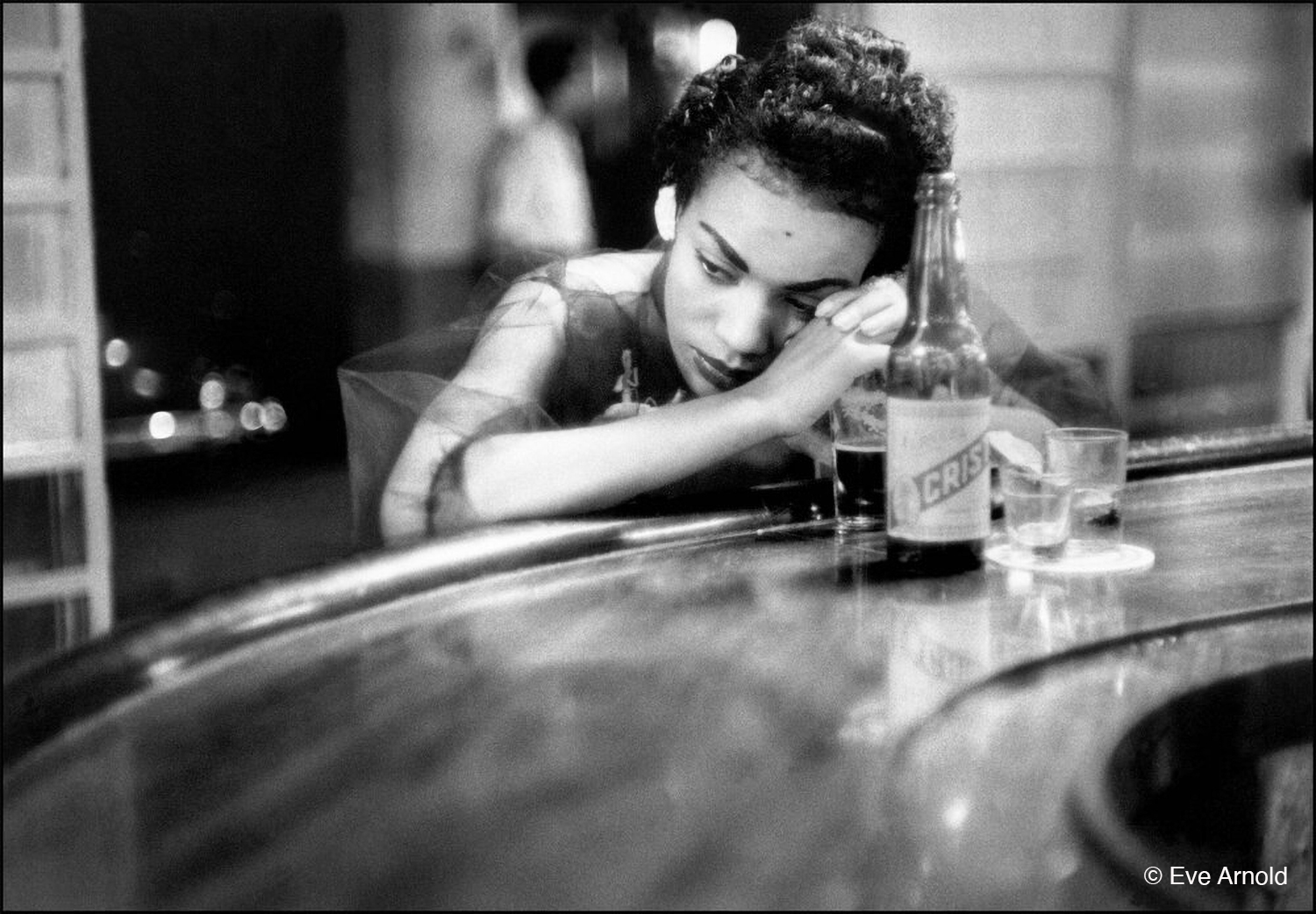 Photo by Eve Arnold of bar girl in Cuba