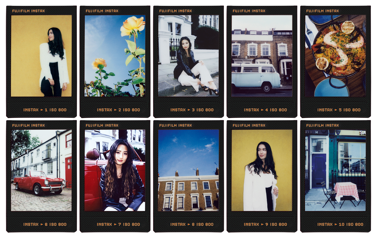 photo of Fujifilm contact sheet instant film
