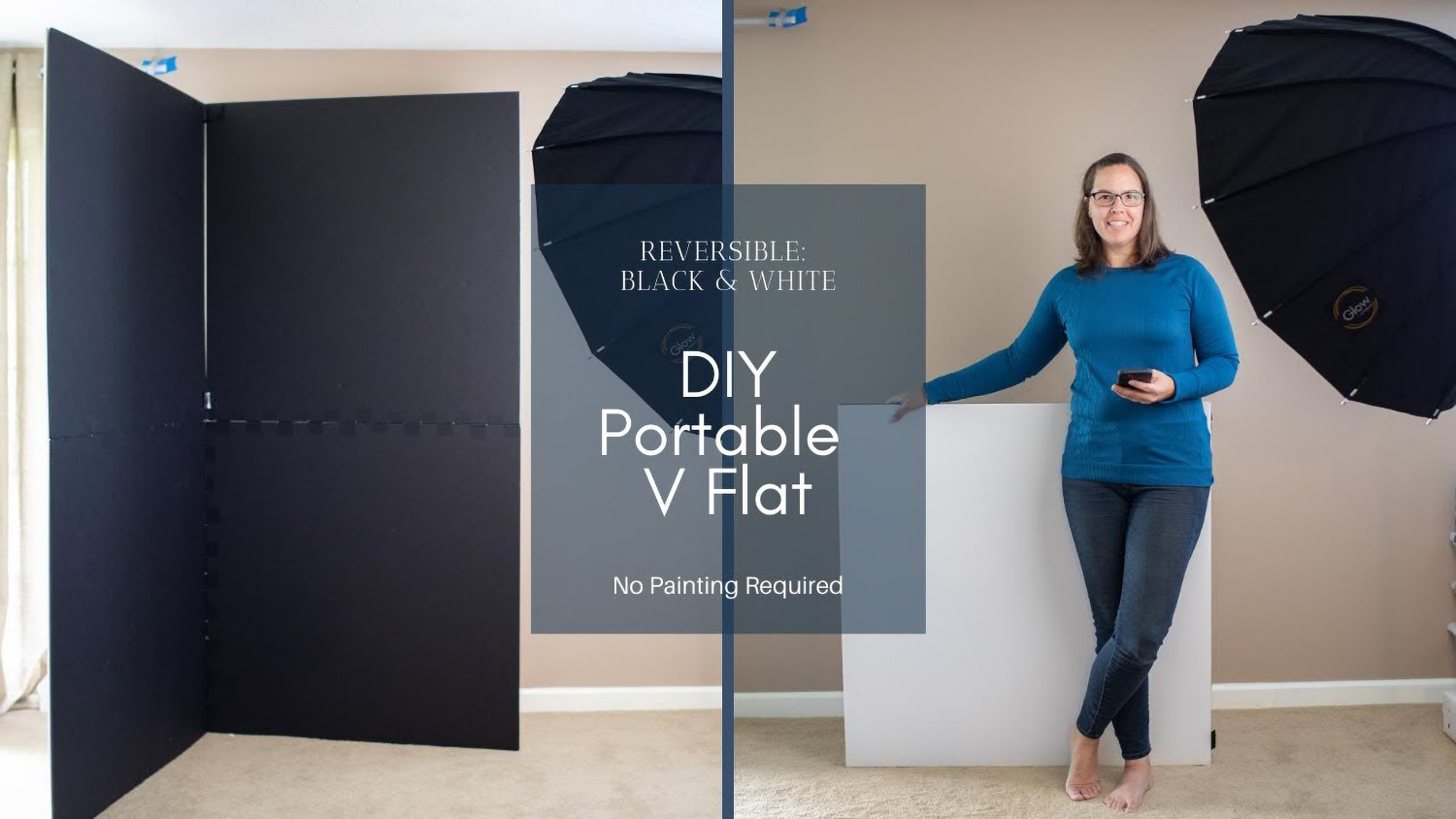How to Make a Portable Black-and-White V-Flat