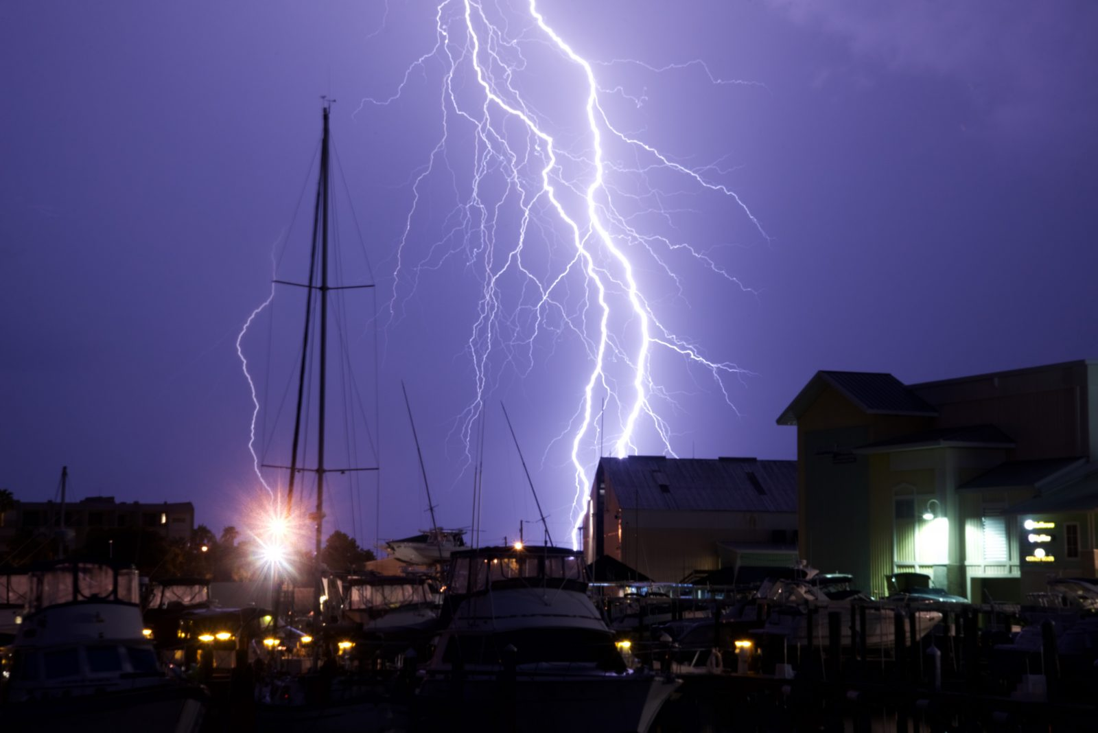 Summer Storm over the Marina