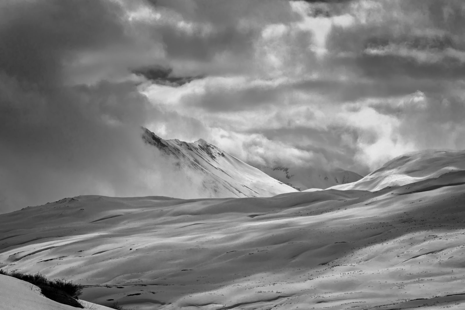 Snow Covered Mountains Haines Highway Digital Photo