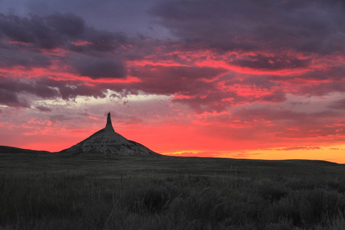 Sunset at Chimney Rock National Monument